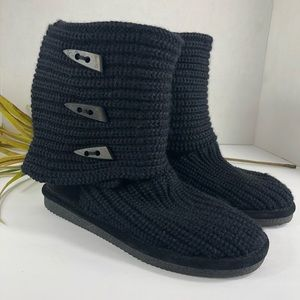 BearPaw Sweater Boot Mid Tall Boots